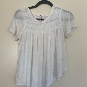 Free People White Blouse Small TShirt